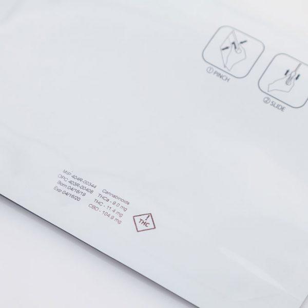 Cannabis label on envelope