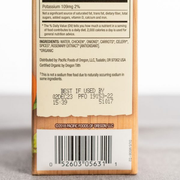 Packaging with best by date, time, and code