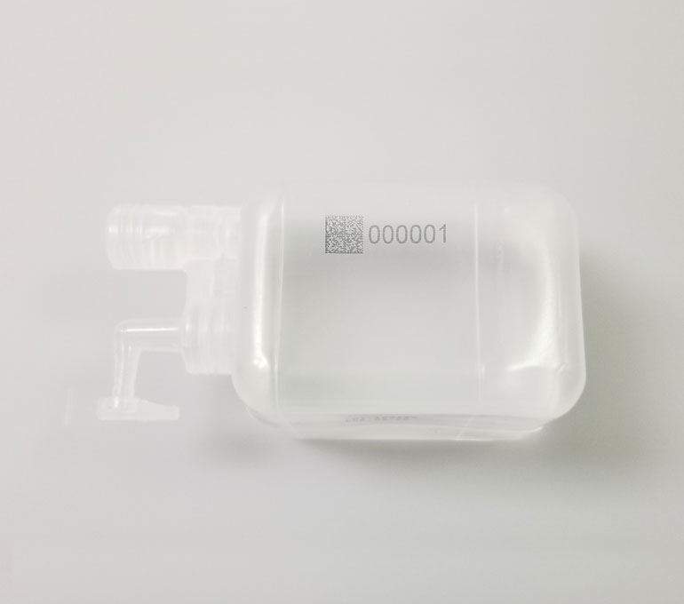 plastic container with code and serial number