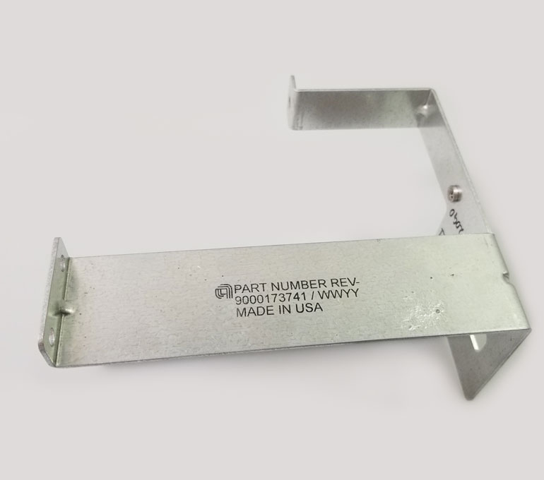 Metal with part number