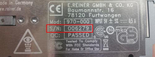 serial number location for 970
