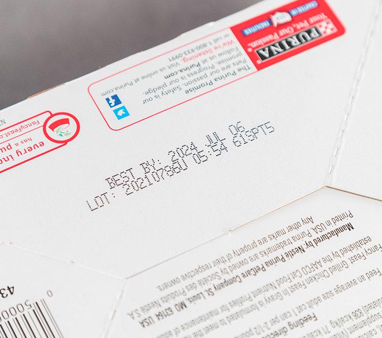 printing on cardboard box