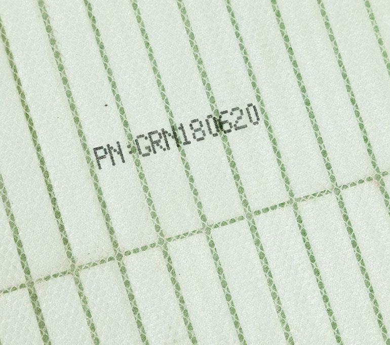 Printing on air filter