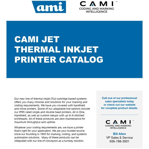 CAMI Jet Thermal Inkjet Printer Catalog