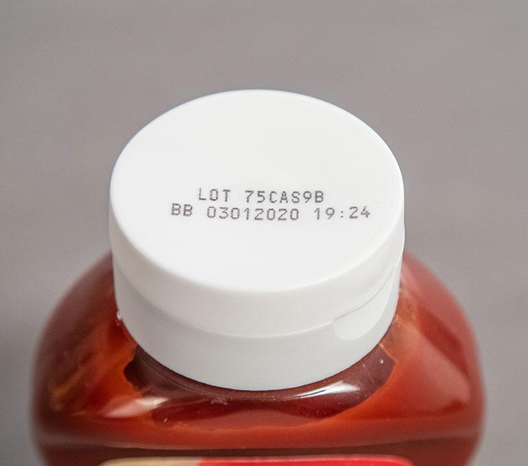 printing on ketchup lid