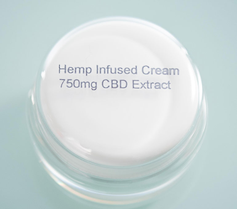 printing on cream container