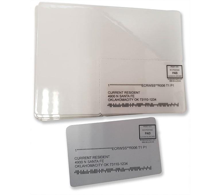 Printing on plastic card