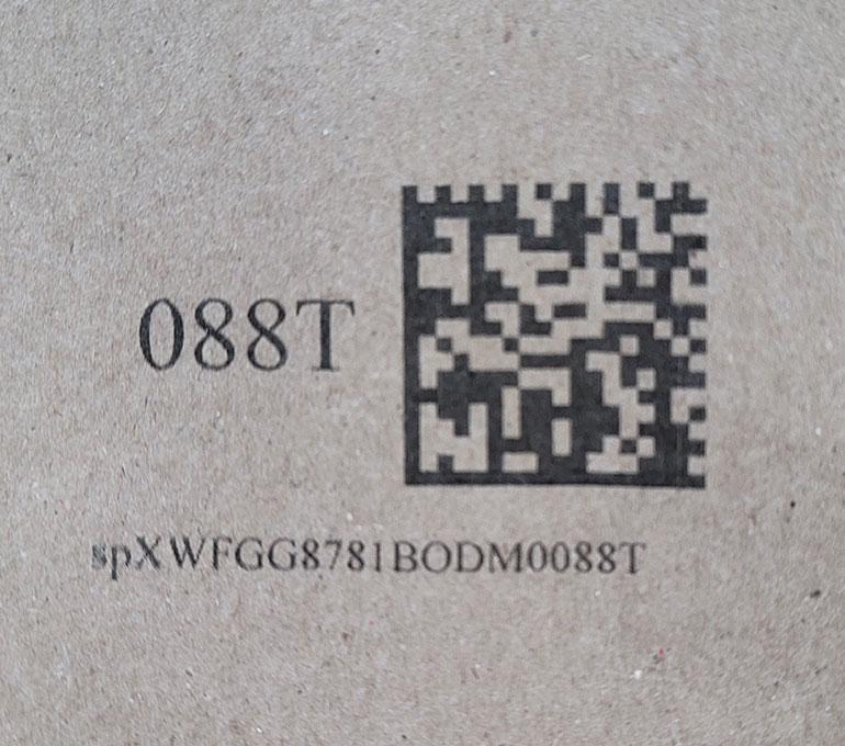 printing 2d barcode on cardboard