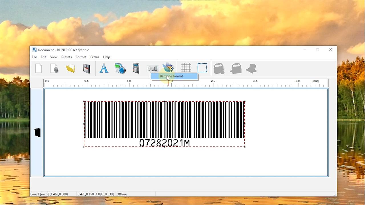 Reiner PCset 1025 Barcode Tutorial